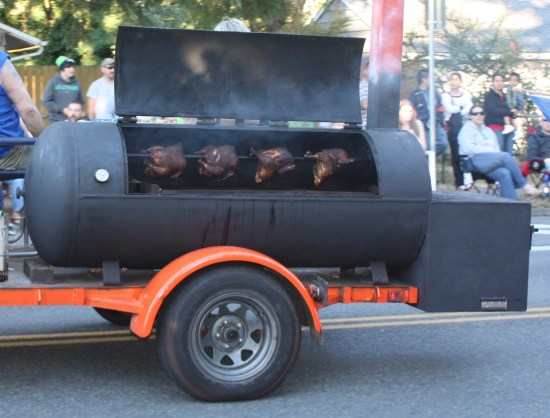 Double D Meats was cooking up some barbecue during the parade.