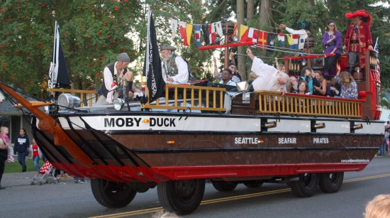 The Seafair Pirates closed out the parade.