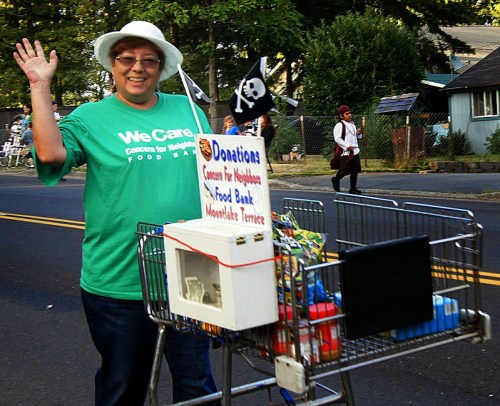 The Concern for Neighbors Food Bank was part of the parade. (Photo by David Carlos)