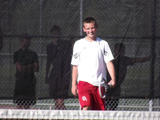 Sophomore Jeremy Ansdell has been enjoying the early stretch of the 2014 season as the Hawks' No. 1 singles  player.