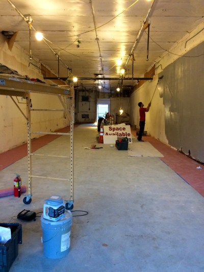 Work on the interior is being done at what will be the location for the Snohomish Pie Company (Photo by David Carlos)