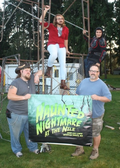 Some of the cast and crew pose for a photo. (from left David Werven, Michael Bell, Bryce Terae and Jody Bissett.