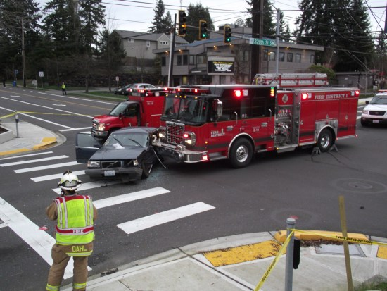 Three people were transported to the hospital as a result of the accident.