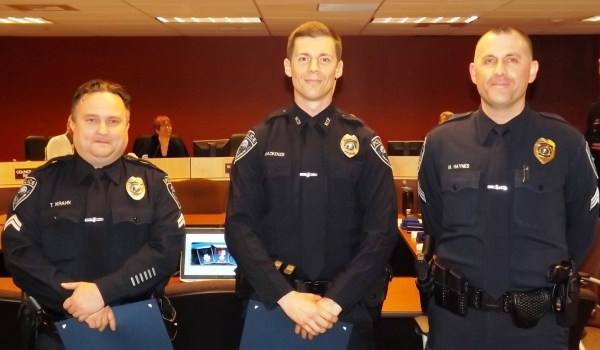 Mountlake Terrace Detective Tim Krahn and Detective Dan MacKenzie received the Certificate of Merit for their investigation of a homicide that occurred on October 4, 2012. (Photos courtesy City of Mountlake Terrace)