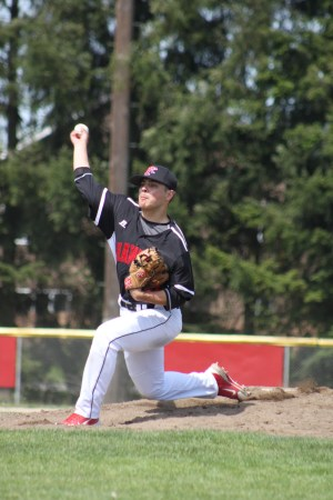 Mountlake Terrace's Raiden Silva pitched in middle relief against Marysville-Pilchuck on Saturday. (Photos by Jenny Serres)