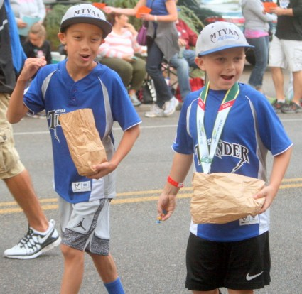 MTYAA players were throwing candy to parade watches instead of pitches.
