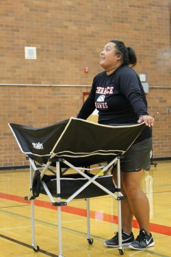 New Head Coach Renee Noeun believes that things are looking up for the Mountlake Terrace High School volleyball program.