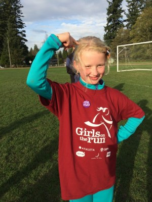 Annika from the Terrace Park K-8 Girls on the Run program. (Photos courtesy of Girls on the Run of Snohomish County)