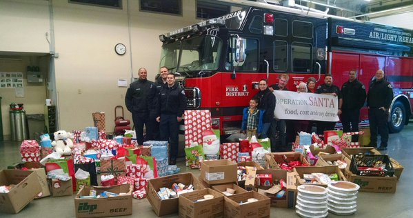 Operation Santa Food, Coat and Toy Drive - With the help of Snohomish County Fire District #1, Red Onion Burgers, Cheeseburger Babies Foundation and Volunteer Fire Fighters of Fire District 1, we are delivering food, coats and toys to 12 families. These 12 families are identified by local schools in each fire district.
