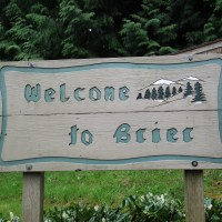 Brier horses, welcome sign 006