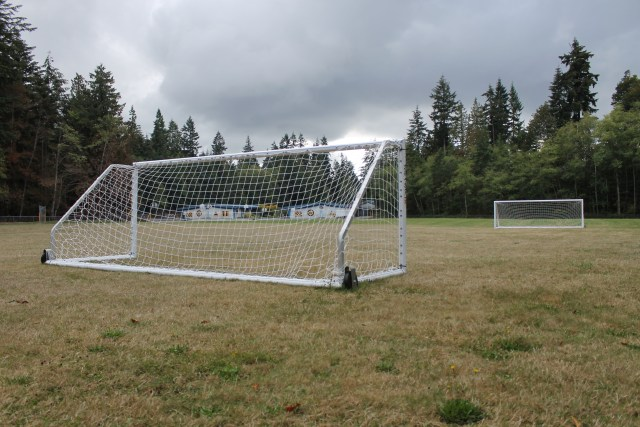 Students at Brier Elementary are now enjoying two new soccer goals at the school, purchased in part by a $1,436 grant from Snohomish County.