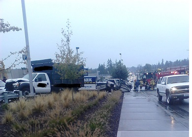 Scene at Hwy 99 and 215th: Truck vs  truck crash | MLTnews com