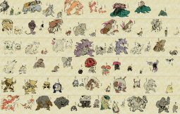 Pokémon One Hundred Fifty-One Demon Night Picture Scroll