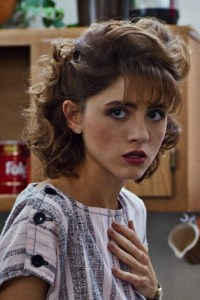 Natalia Dyer as Nancy Wheeler.