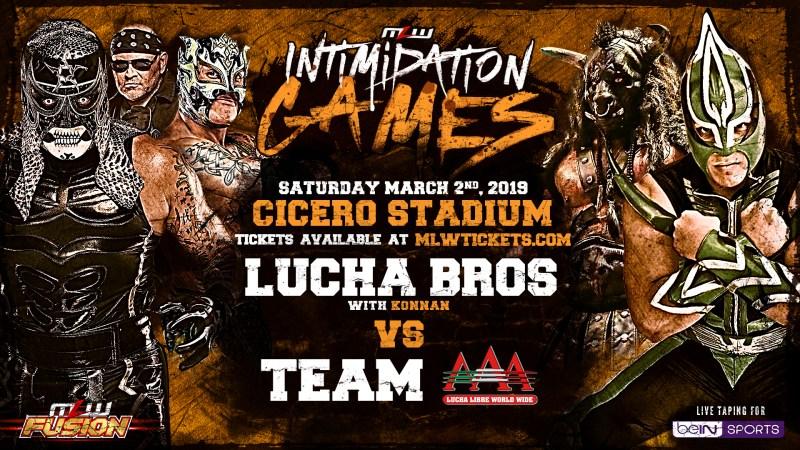 Rey Fenix & Pentagon Jr. (with Konnan) vs. Team AAA (Laredo Kid & Taurus)