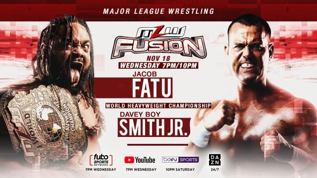 DBS vs. Fatu for World HeavyweightTitleheadlines MLW FUSION Nov. 18 restart