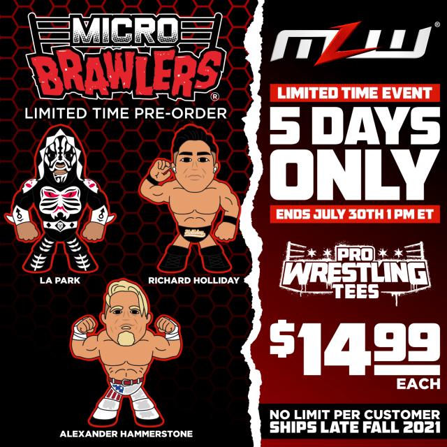 Pre-order MLW micro brawlers