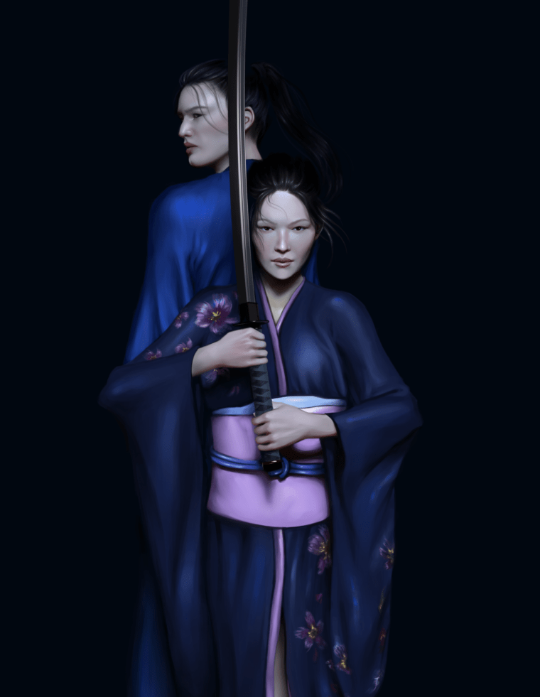 Misaki & Takeru (The Sword of Kaigen) by Bloodydamnit