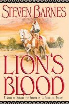 Lion's Blood by Steven Barnes cover for African SFF list (alternate history book)
