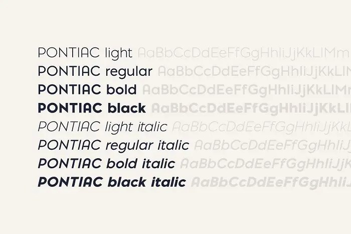 Download Pontiac Font Collection Free Download