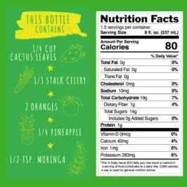Cactus Madness Nutritional Ingredients