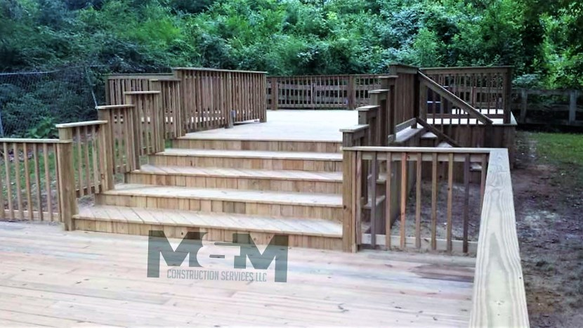 M&M Construction Services LLC licensed general contractor, commercial and residential, deck builder, custom decks of Mississippi