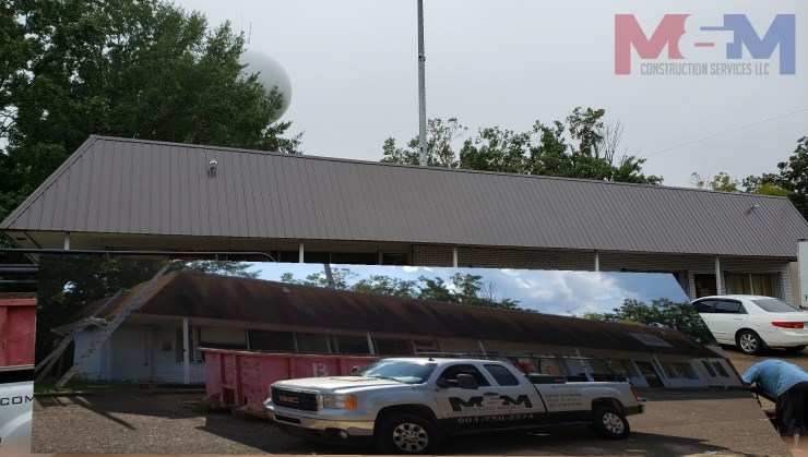 M&M Construction Services LLC best metal roofing contractor Ms, metal roofing Ms, commercial metal roofing Jackson Ms
