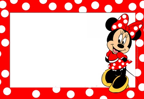 Invitaciones De Minnie Mouse Roja Para Imprimir Gratis