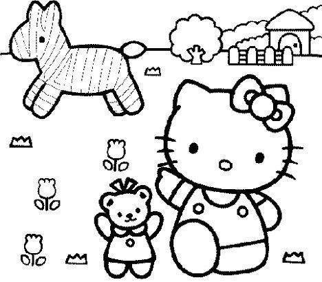 Hello Kitty Easter Coloring Pages Hello Kitty Craft Activity Hello