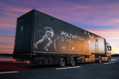 Polymotion Stage Truck the world's first 3-in-1 mobile volumetric studio on wheels