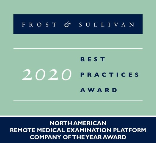 2020 North American Remote Medical Examination Platform Company of the Year Award