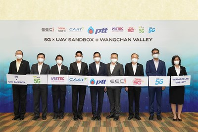 PTT Team Up with Partners to Launch 5G x UAV SANDBOX to Unlock Thailand's First Restriction-free Drone Testing Area at Wangchan Valley