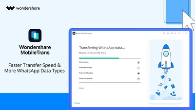 Wondershare MobileTrans 2.0 Arrives with Improved Transfer Speed and Supports More Data Types