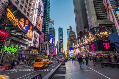 BIGO Awards Gala 2021 billboard at Times Square, New York