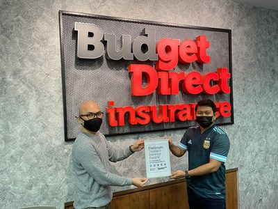 Left to right: Willy Bilaro, Digital Marketing Manager and Khairul Anwar, Senior Executive Customer Care with our Feefo Platinum Trusted Service Award 2021