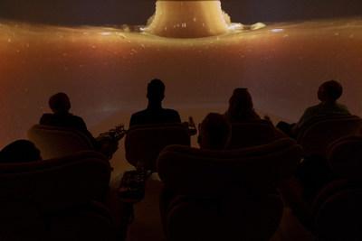 Inside Comvita's boutique 180-degree theatre