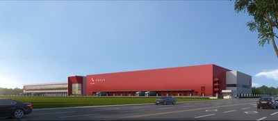 Project rendering of the Southwest Supply Chain Support Center in Chengdu