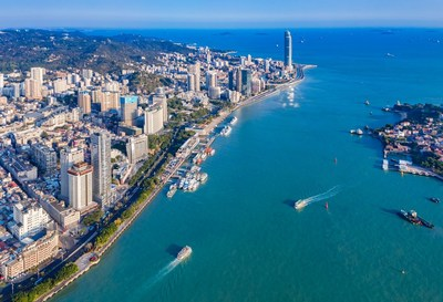 An aerial view of Xiamen in East China's Fujian province. [Photo provided to China Daily]