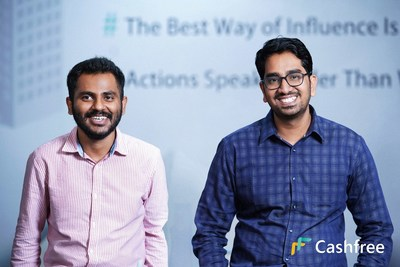 (L-R) Reeju Datta Co-Founder of Cashfree and Akash Sinha CEO and Co-Founder of Cashfree.