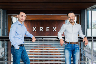 黃耀文(右)和蕭滙宗(左)共同創辦的區塊鏈金融科技公司XREX,成功在Pre-A輪募資1700萬美元