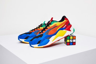Rubik's Brand Ltd. joins forces with PUMA for a playful collaboration, bringing color to a store near you. (CNW Group/Rubik's Brand Ltd.)