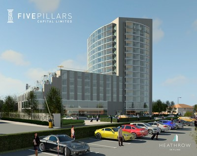 """Architectural rendering of the """"Heathrow Skyline"""" development by Five Pillars Capital"""