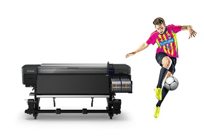The SureColor F9470H is Epson's first dye sublimation printing solution featuring two genuine fluorescent inks – Yellow and Pink – which bring bright, vivid colors to the production of sportswear, workwear, and fashion items.