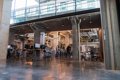 A look inside ANSYS Hall at Carnegie Mellon University.