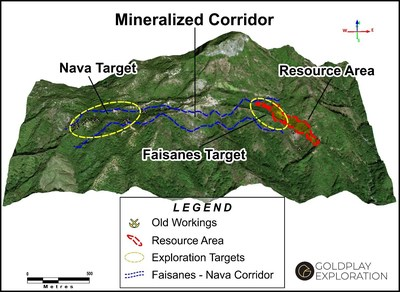 Figure 1: The Nava Gold Target (CNW Group/Goldplay Exploration Ltd)