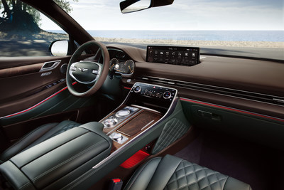 The luxurious interior of the first-ever SUV from Genesis, the GV80.