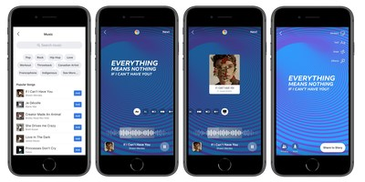 Facebook Stories Music Sticker Flow (CNW Group/Facebook Canada)