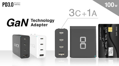 "3C+1A World's Smallest & Lightest 100W GaN Charger ""The CIO 3C1A"""