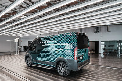 The Karma Level 4 E-Flex Van, a collaboration with NVIDIA and WeRide, enables electrified autonomous last mile transportation solutions.