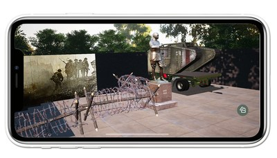 """Telling the story """"The Genesis of the Modern Tank"""" using 3D models, AR environments and video in very unique combinations, in the National World War I Memorial """"Virtual Explorer"""" App, now available in the App Store and on Google Play, was released by the Doughboy Foundation on July 3."""